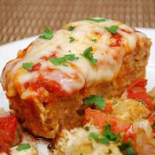 Chicken Parmesan Meatloaf -- made it last night and it was delicious.  I'll use a little less onion next time, and I topped mine with fresh mozzarella.  Yummy!