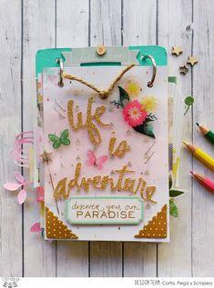 "Penknives Design: Mini álbum ""Life is Adventure"""