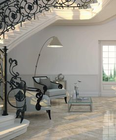 Indoor tile / floor / porcelain stoneware / Victorian pattern HIGH GLOSS : VERSALLES Ceracasa Ceramica