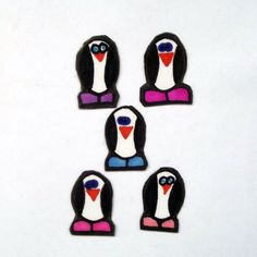 Set of 4 Small Penguin Magnets, Penguin Magnets, Refrigerator Magnets, Cute Magnets, Magnets, Christmas Gifts, Stocking Stuffers by YouniqueGiftShop on Etsy