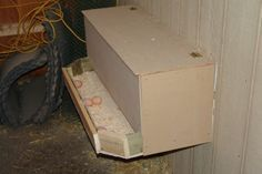 external egg catcher - no need for tapered edges.  Maybe tilt to one side so they gather.
