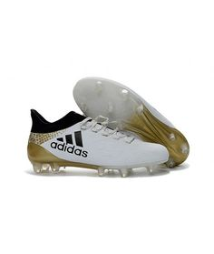 quality design 80387 15c9f 2016 Chaussures de football Adidas X AGFG Blanc Noir Or pas chere