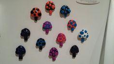 Mushroom magnets I made