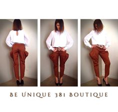 Be unique - puffed pant + white shirt