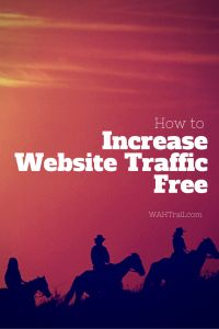 If you want to earn money online with your website, then you must know how to generate traffic to your site. There are both free and paid methods for generating website traffic. To learn about the free techniques for acquiring more traffic to your website, read this article: http://wahtrail.com/increase-website-traffic-free