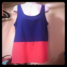 Sleeveless Top , Sz L In good condition . Worn a few times . Sz L . 100% polyester. Tea n Rose Tops Tank Tops