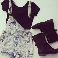 overall shorts♥