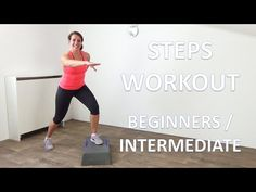 10 Minute Steps Workout – Beginners to Intermediate Step Exercises - YouTube