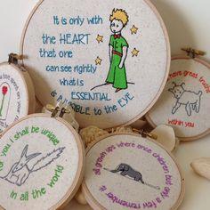 Little Prince Set - Le Petit Prince 5 hoop Set - El principito - set of 5 hoops