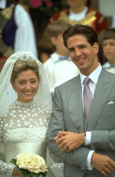 HRH Crown Prince Pavlos & Crown Princess Marie Chantal in 1995.