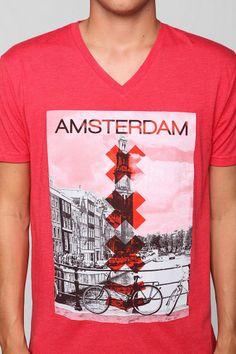 1839da23545679 Amsterdam V-Neck Tee V Neck Tee