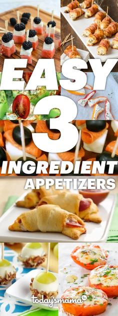 Easy appetizers for a crowd! These 3 ingredient appetizers are the perfect crowd pleasers at a party and they are so simple to make! for party crowd pleasers Easy 3 Ingredient Appetizers Appetizers For A Crowd, Thanksgiving Appetizers, Finger Food Appetizers, Holiday Appetizers, Easy Appetizer Recipes, Healthy Appetizers, Thanksgiving Recipes, Finger Foods, Easy Make Ahead Appetizers