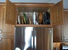 Above Refrigerator Storage Design Ideas, Pictures, Remodel and Decor