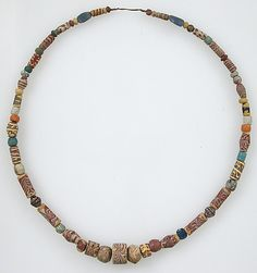 Frankish Beaded Necklace  Date: 500–600 Geography: Made in, Niederbreisig, Germany Culture: Frankish Medium: Glass