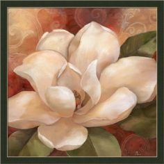 Southern Garden II by Nan White Magnolia Floral Framed Art Print Picture Wall Decor Improve the look on the inside of your home by using floral wall art. By adding pretty flower paintings and flower wall art you can create a nice and relaxing house. I like using both framed floral wall art and plain canvas floral art prints together. Flower paintings and wall art look fabulous in living rooms, bedrooms and hallways. Additionally don't forget to place small floral accent paintings in tiny s