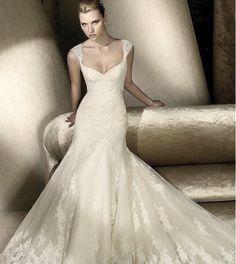 Romantische trouwjurk met kapmouw mooie bruidsjurk op maat