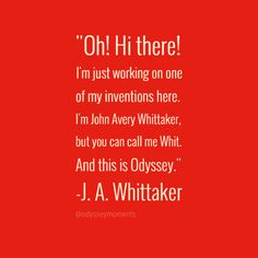 John Whittaker | Adventures in Odyssey quotes (wow. I remember when this was the intro....a long time ago)