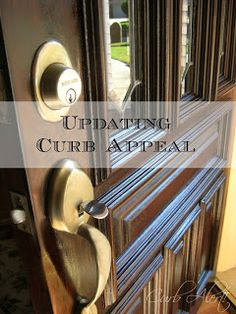 - Totally Awesome Makeover Ideas: Updating your Home's Curb Appeal {Front Door Refinishing} Stained Front Door, Dark Walnut Stain, Selling Your House, Reno, Easy Projects, Outdoor Projects, Outdoor Decor, Interior Barn Doors, Diy Home Improvement