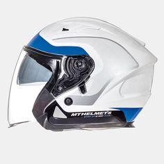 MT AVENUE sv Helmets (WHT/BLU). *DOT//ECE*