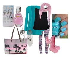 """""""Pink and Turquoise: Always Hot!"""" by renee-guillory-harris on Polyvore"""