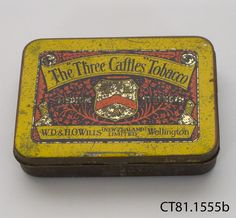 The Three Gaftles Tobacco, W. D. & R.   C. Willis, Wellington, New Zealand