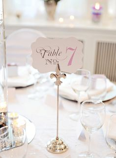 Vintage Style Wedding Table Numbers  Set of by janeeselitedesigns, $25.00 this could be cute on a small picture easel