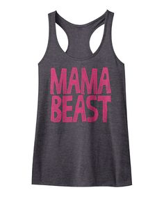 Take a look at this American Classics Charcoal Heather 'Mama Beast' Fitted Slim-Fit Tank today!
