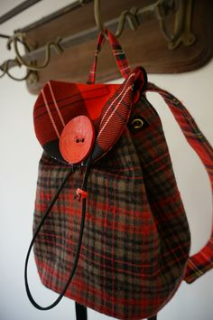 Tartan Rucksack- designed and made in Scotland by www.julia-cunningham.co.uk