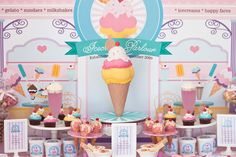 Little Wish Parties | Summer Ice Cream Party table | https://littlewishparties.com
