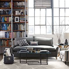 I love the Bliss Sofa on westelm.com in the heather grey print