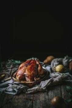 Vanilla Bean Brown Butter Roast Chicken — Adventures in Cooking http://adventuresincooking.com/2016/12/vanilla-bean-brown-butter-roast-chicken.html