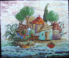 I made it in 2012. Glass mosaic.
