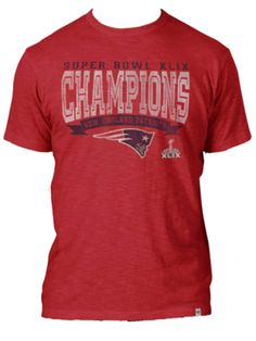 323145b2c Super Bowl XLIX Champion Patriots Red Scrum T-Shirt