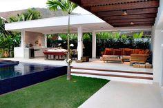 Pergola Ideas For Shade Code: 7218744661 Backyard Patio Designs, Backyard Bbq, Outdoor Areas, Outdoor Structures, Design Exterior, Balkon Design, Outdoor Living Rooms, Terrace Design, Outdoor Kitchen Design