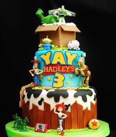There are so many great Toy Story cakes out there, but I especially love this design and extra details like the etch-a-sketch.