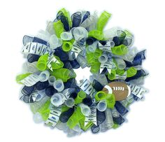 Seattle Seahawks Wreath by CraftsbyCassy on Etsy, $60.00