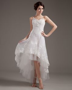 Lace Wedding Dresses Short in Front long