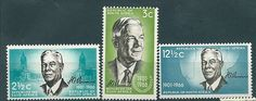 1966 - South Africa Verwoerd Commemoration 3 Stamps MNH