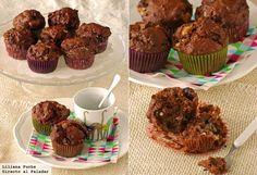 Receta de muffins de triple chocolate