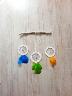 Nursery dreamcatcher baby child room triple by handmadebyfofo, $34.00