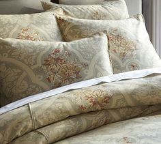 Camilla Duvet Cover & Sham from Pottery Barn.  I have this and it's beautiful in a light sea foam green room!