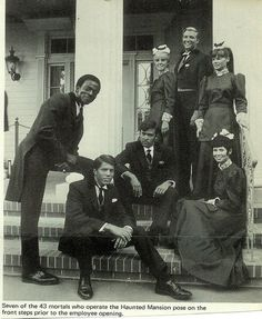disneylandguru:  7 of the 43 Haunted Mansion opening crew, 1969.