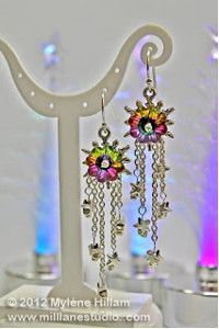 Aurora Starburst Earrings | AllFreeJewelryMaking.com