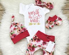 Baby Girl Coming Home Outfit  Newborn Girl Outfit Hello World