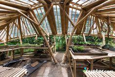 Cob Building, Bamboo Building, Farm Nursery, Construction Materials, Ubud, Hotel Reviews, Garden Bridge, Trip Advisor, Outdoor Structures