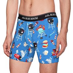 Little Blue House By Hatley Mens Printed Boxers