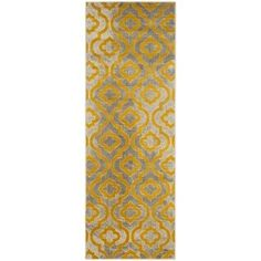 Shop for Safavieh Porcello Contemporary Moroccan Light Grey/ Yellow Rug (2'4 x 6'7). Get free shipping at Overstock.com - Your Online Home Decor Outlet Store! Get 5% in rewards with Club O! - 17555084