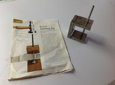 Handmade Riveting Tool  (from tutorial in Lapidary Journal Jewelry Artist March 2010.)