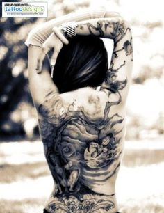 Back Tattoos For Girls – Picture Ideas – Tattoos Piercings Girl Back Tattoos, Sexy Tattoos For Girls, Back Tattoo Women, Lower Back Tattoos, Tattoos For Women, Tattooed Women, Tattoo Girls, Inked Girls, Tattoo Son