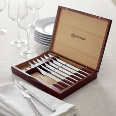 Free Shipping.  Shop Wüsthof ® Steak Knife Set.  The sleekest steak knives combine the renowned quality and craftsmanship of Wüsthof with a contemporary stainless design that's the ultimate in utility.